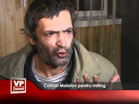 Coktail Molotov pentru miting