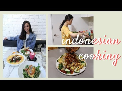FOOD VLOG: Brunch And Cooking Indonesian Nasi Liwet [ENG SUB]