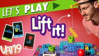 "Join us as we play Lift It! Deluxe. The winners get the Golden Die (and office bragging rights!) while the losers have to endure a gross punishment.Buy here: https://www.vat19.com/item/lift-it-deluxe-game?adid=youtubeSubscribe to Vat19: http://www.youtube.com/subscription_center?add_user=vat19com Follow Vat19:Facebook: https://facebook.com/vat19Instagram: https://instagram.com/vat19/Twitter: https://twitter.com/vat19SnapChat: https://www.snapchat.com/add/vat19teamShop hundreds more curiously awesome products:https://www.vat19.com/?adid=youtubeLift It! Deluxe is a clever construction game that will build up the silliness at your next family game night.When it's your turn, use a small crane to attempt to stack colored building blocks in a formation depicted on your card.Maneuvering the blocks before time runs out can be tricky—especially when you have the crane strapped to your head! The ""Head Spaces"" use the included velcro strap and your noggin' to add another level of silliness and difficulty to this interactive board game.Play individually or on teams, where you and a partner work together to control the same hook. Watch More Vat19:Latest Uploads: https://www.youtube.com/user/vat19com/videos?shelf_id=1&view=0&sort=ddPopular Videos: https://www.youtube.com/user/vat19com/videos?shelf_id=7&view=0&sort=pThe Sample Room: https://www.youtube.com/watch?v=jL1JK0U6s28&list=PLSqiExuEA-RG_aF5u4q5gEvJiUfoa6l25Fun Stuff to Eat: https://www.youtube.com/watch?v=7RXmNRr8x7I&list=PLSqiExuEA-REt5gzR0A9ernZNHlZ2glIlAbout Vat19:Vat19 is dedicated to ""curiously awesome"" gifts, candy, toys, gummy, putty, puzzles, games, and more! In addition to making funny commercials you'll actually want to watch, we produce amazing challenge videos, document our outrageous contraptions, and invite you to a front row seat for our silly stunts. Sometimes we blow things up, fill up a bathtub or pool with crazy stuff, dare each other to eat super spicy foods, and answer ""burning questions"" from our viewers."