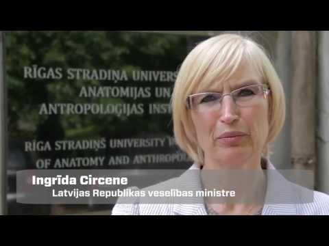 Veselības ministre darba vizītē apmeklē Rīgas Stradiņa universitātes anatomikumu
