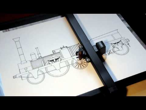 Roland DXY-1150 Pen Plotter Drawing