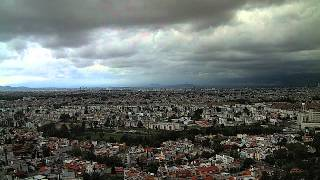 Heavy rain visible from Puebla, Puebla, Mexico (time-lapse) - July 13, 2012