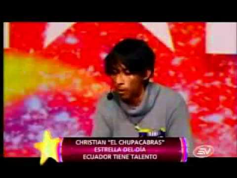 Ecuador tiene talento Christian el chupacabra