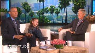 Obama, Ellen và chuyên gia về Tổng thống Macey Hensley