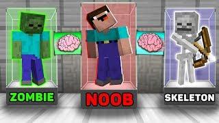 Video Minecraft NOOB vs PRO : BRAIN EXCHANGE! NOOB BECAME a ZOMBIE AND SKELETON  in Minecraft! Animation! MP3, 3GP, MP4, WEBM, AVI, FLV Juni 2019