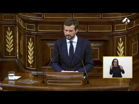Intervención de Pablo Casado en el Pleno del Congr...