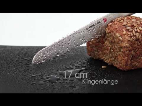 Global SAI-M04 Brötchenmesser 17 cm