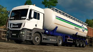Back on the wonderful german Autobahn of ProMods!My boss had to buy new Euro 6 Trucks. Sadly he hasn't so much money. He could only afford some MAN TGS with 400 bhp. Let's see how it performs with a 28 tons heavy trailer. I made a small mod. So i can use the beautiful TGS sound by R.J Productions also for the Euro6 version by MADster. Downloadlink as always see down below. 10:40 Hahaha... yeah right.. ;)13:30 oops, police... and i'm speeding all the time.                                                            ModsTruck:MAN TGS Euro6 v1.1 by MADster https://forum.scssoft.com/viewtopic.php?f=35&t=166544Sound:MAN TGS Sound by R.J Productions https://forum.scssoft.com/viewtopic.php?f=211&t=212604Fix for the Euro 6 http://sharemods.com/lwcvmk8rt636/MAN_TGS_L6_Stock_SoundFIX.scs.htmlWheels:Truck Rims by 50keda http://forum.scssoft.com/viewtopic.php?f=34&t=183178Truck Tyres by SCS Michelin Fan Pack DLC http://store.steampowered.com/app/388471/Trailer:Silo Feldbinder KIP Skin Pack v 1.0 https://ets2.lt/en/silo-feldbinder-kip-skin-pack-v-1-0/Maps:ProMods MAP get it only there: http://promods.net/Italy Map 2.0  https://forum.scssoft.com/viewtopic.php?f=32&t=220796Fix ProMods 2.17 + Italy 2.0 https://ets2.lt/en/fix-promods-2-17-italy-2-0/RusMap v1.7.3 http://forum.scssoft.com/viewtopic.php?f=32&t=186595Map Addons:No Dead Ends http://sharemods.com/bbrk1uyvnw7w/No_Dead_End_1.20_by_Jurriuuh.scs.htmSewer Mod http://forum.scssoft.com/viewtopic.php?f=34&t=128189City Lighting by SiSL https://steamcommunity.com/sharedfiles/filedetails/?id=812055139Graphics:Spring Weather by Grimes https://forum.scssoft.com/viewtopic.php?f=34&t=199140SweetFX v2.0 (Mod 13)  https://ets2.lt/en/sweetfx-v-2-0-mod-13-sp/AI Traffic:AI Traffic by Jazzycat http://jazzycat.ucoz.net/ETS2 TZ tuning ai cars http://tzexpress.cz/DP's Realistic Traffic v 0.1.13 https://ets2.lt/en/dps-realistic-traffic-v-0-1-13/Miscellaneous:SiSL's Mega Pack https://forum.scssoft.com/viewtopic.php?f=175&t=194010Sound Fixes Pack by Drive Safely  http://forum.scssoft.com/viewtopic.php?f=212&t=200919Realistic Mirror FOV by  Kenesoljas [KZ] http://steamcommunity.com/sharedfiles/filedetails/?id=898909733Small mirror mod http://steamcommunity.com/sharedfiles/filedetails/?id=698352359?ETS2 - Realistic Headlight Range v0.7 by Kenesoljas https://steamcommunity.com/sharedfiles/filedetails/?id=897109701SIGNS ON YOUR TRUCK by tobrago https://steamcommunity.com/sharedfiles/filedetails/?id=688277995Recording Device:AVermedia Live Gamer Portable 2 --- http://amzn.to/2tGYoSa PC Specs:Intel Core i5-4690, 4x 3.50GHz (max. 4x 3,9GHz)  ---  http://amzn.to/2tdxvVBArctic Freezer i32 CPU Cooler ---  http://amzn.to/2ulZ5y816GB DDR3 MemoryKingston SSDNow UV400 480GB --- http://amzn.to/2tITrs5INTEL Pro 5400s SSD Series 240GB --- http://amzn.to/2tFA6IMInno3D iChill GeForce GTX 1080 3Fans, 8GB Gigabyte GA-H97-D3Hbe quiet! Power Zone 750W ---  http://amzn.to/2tISVdCLogitech G25Xbox 360 Controllerbeyerdynamic DT770 Headphones 250 Ohm ---  http://amzn.to/2tdpyzn