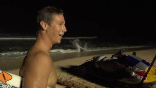 Night Surfing Pipeline W/ Irons, O'Brien, And Walsh