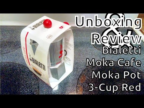 Unboxing and Review: Bialetti Moka Cafe Moka Pot 3-Cup Red