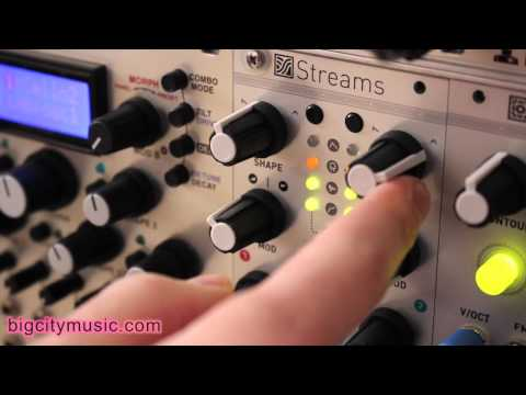 Mutable Instruments Streams LPG, Tiptop Z-DSP delay eurorack