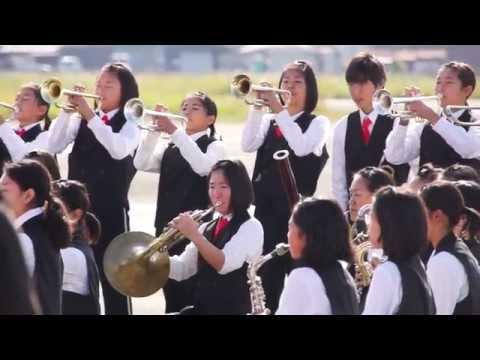 八尾駐屯地エアーフェスタ2014記念式典♪曙川南中学校吹奏楽部