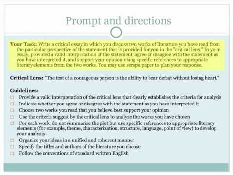 parts of a critical lens essay A critical thinking definition is basically the same as a critical essay meaning - it is a part of the process required to carry out an analysis paper the tips below will help the students to understand the main idea of this type of academic writing with the help of vivid examples and guides.