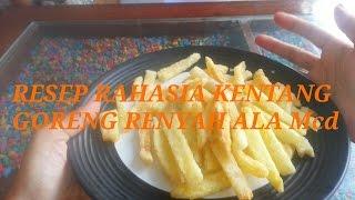 Resep rahasia kentang goreng renyah ala Mcd #kentanggorengKFC #FROZENFOOD