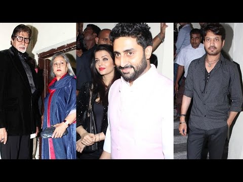 Aishwariya, Abhishek, Jaya Bachchan At Screening Of Film Shamitabh