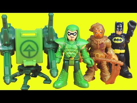 Story - Imaginext Green Arrow saves Batman Gotham city police from scarecrow toys story playset! ----Check out these fun Videos by Just4fun290---- Imaginext Tentaclor Alien eats Toy Story Buzz Lightyear...