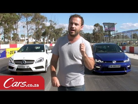 drag race: vw golf 7 r vs mercedes a 45 amg