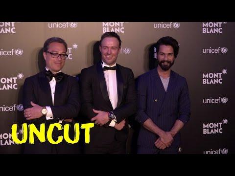 UNCUT: Shahid Kapoor | AB de Villiers | Red Carpet UNICEF Mont Blanc