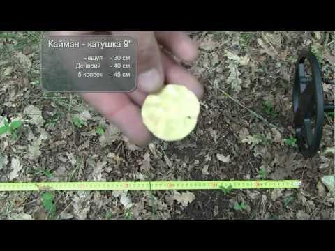Металлоискатель Кайман, тест катушки 9