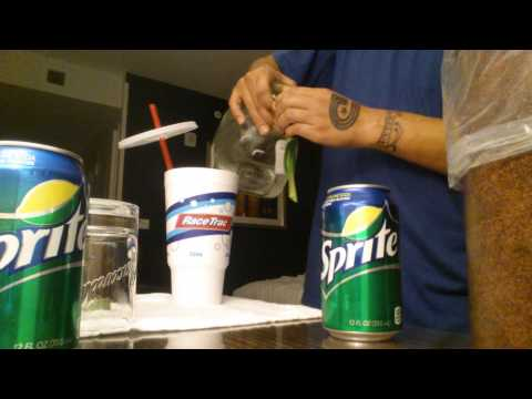 How to mix patron and sprite with lime + ice