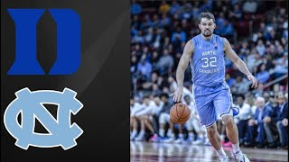 Duke vs UNC First Half Highlights | College Basketball Highlights