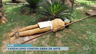 Tupã: obra de arte alvo de vandalismo será restaurada