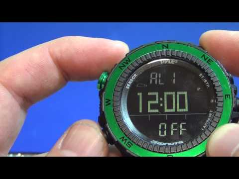 Pyle PSWWM82GN Digital Multifunction Sports Watch with Altimeter, Barometer, and  Thermometer