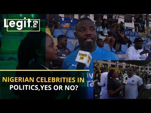 Nigerian celebrities in politics: YES or NO? | Legit TV
