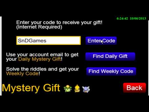 Pokemon Tower Defense: Missing No Mystery Gift Code