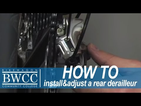 derailleur - Learn with http://Bikewagon.com how to install your rear derailleur. Learn to adjust your rear derailleur so you can ride in peace! No more Clanking around b...