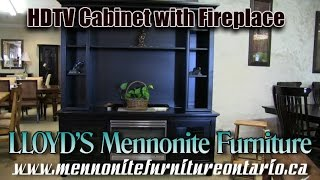 Mennonite HDTV Cabinet with Fireplace