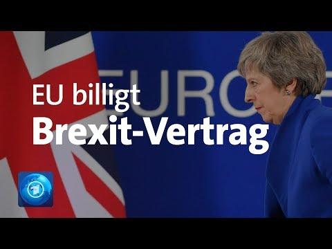 Brexit: EU stimmt Vertrag mit Großbritannien zu