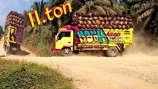 Video Truck sawit muatan 11.ton+brondolan MP3, 3GP, MP4, WEBM, AVI, FLV Januari 2019