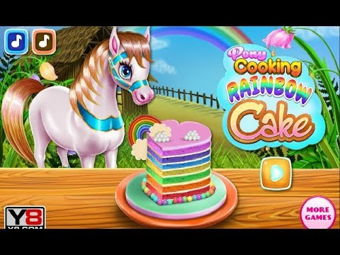 Pony Cooking Rainbow Cake - Y8 Game