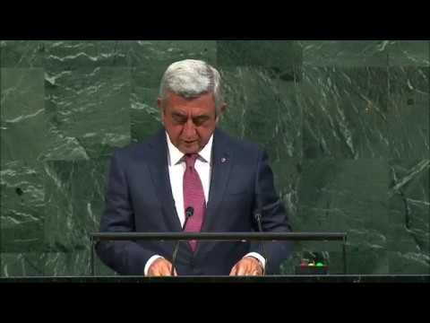 Выступление президента Армении Сержа Саргсяна на Генассамблее ООН
