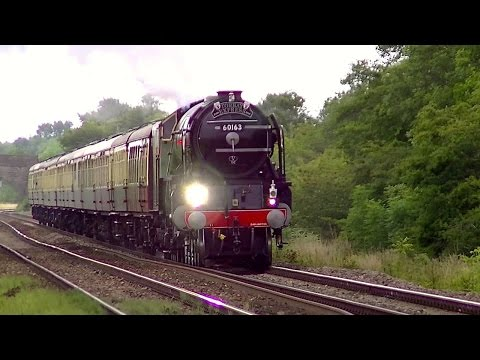 LNER A1 60163 'Tornado' whistling out of Westbury 12th Ju...