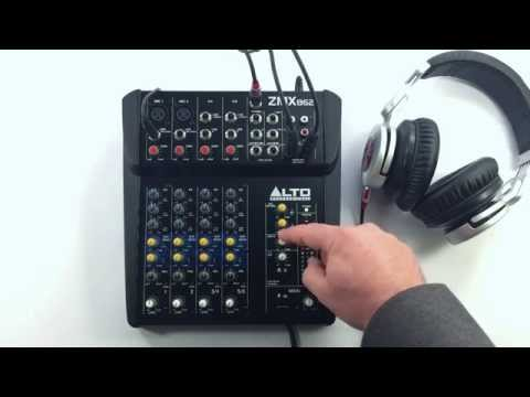 Alto Professional ZMX And TMX Series Mixers - Headphone And Control Room Outputs