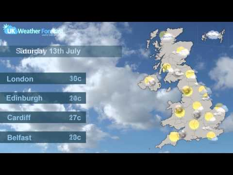 UK Weather Forecast - For Friday 12th July 2013 and The Weekend