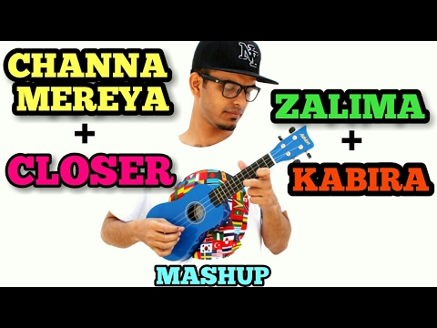 Video Channa Mereya | Closer | Zaalima | Kabira Mashup Cover On Ukulele | Bollywood/Hindi Ukulele Cover download in MP3, 3GP, MP4, WEBM, AVI, FLV January 2017