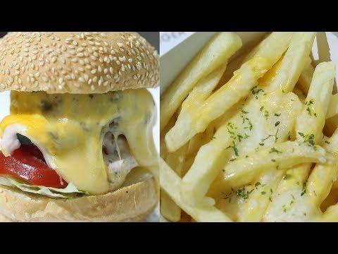 穿街過巷尋覓美食第三擊!美式三重芝士手打牛肉漢堡Кс芝士焗薯條