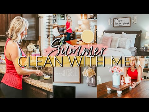 SUMMER CLEAN WITH ME 2019|EXTREME CLEANING MOTIVATION|STAY AT HOME MOM CLEANING ROUTINE