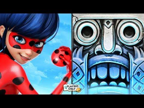 Miraculous Ladybug & Cat Noir VS Temple Run 2 [SANTA CLAUS, LOST JUNGLE]