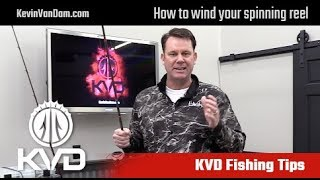 Kvd Fishing Tips How To Wind Spinning Reel