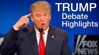 Donald Trump Debate Highlights