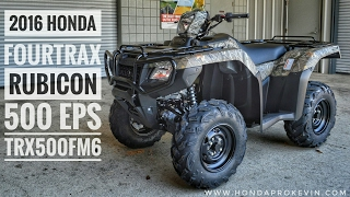 10. 2016 Honda FourTrax Foreman Rubicon 500 EPS Camo - TRX500FM6G | ATV Walk-Around Video