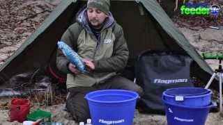 Часть 1. Ловля фидером  поздней осенью на реке  Днепр. Эксперименты с прикормкой FLAGMAN  .