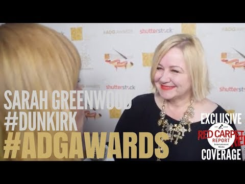 Sarah Greenwood, Production Designer #Dunkirk interviewed at the 22nd Annual ADG Awards #ADGAwards