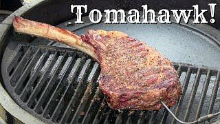 Best Way To Cook A Tomahawk Steak On A Kamado! | Tomahawk Ribeye | Golden's Cast Iron Kamado! by Ballistic BBQ