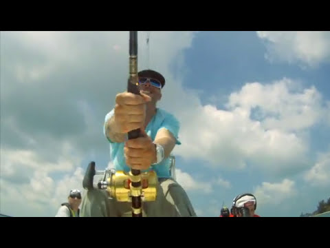 Ed Bassmaster vs Giant Fish on Facts of Fishing TV