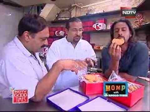 Snacking on khaajris in Porbandar